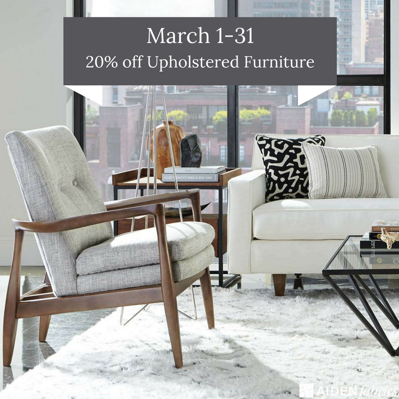 Charleston Upholstery Sale March 2018