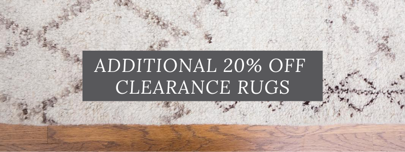 Extra 20% off Clearance Area Rugs