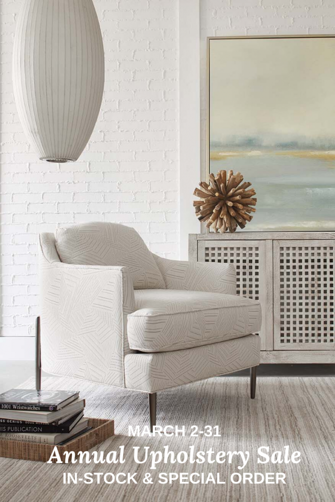 Annual Upholstery Sale in Charleston - 20% off Upholstered Furniture