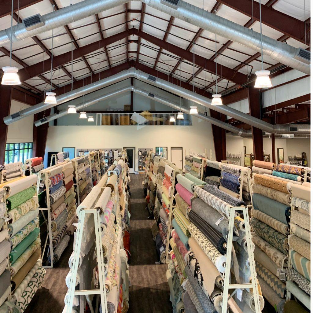 Aiden Fabrics new showroom fabric sale