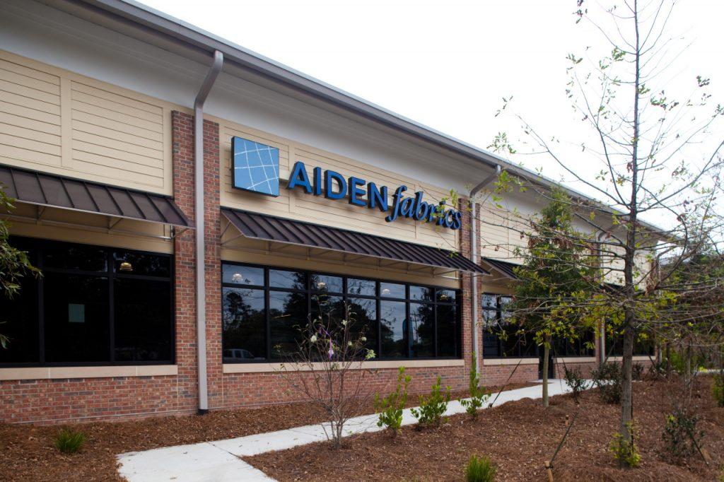 Aiden Fabrics new showroom exterior 1172 US Hwy 41, Mount Pleasant